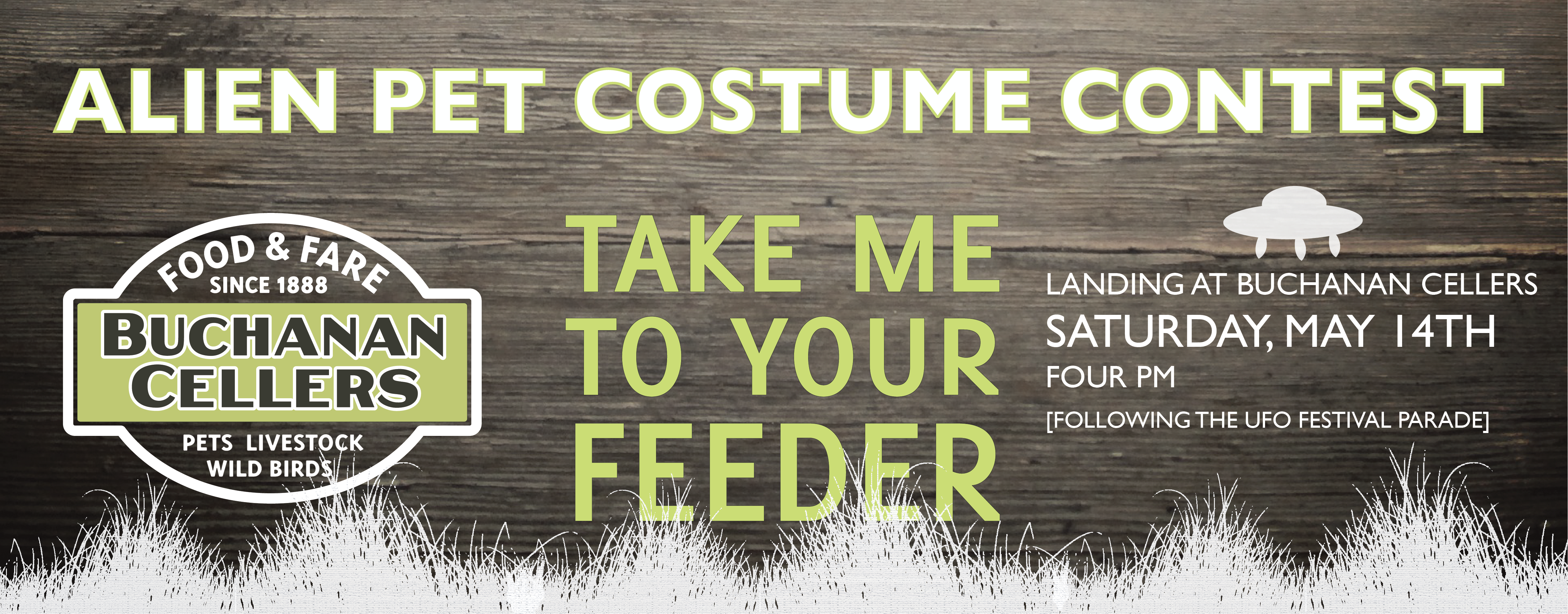 It's time to start working on your pet's costume! The aliens are landing in McMinnville soon!