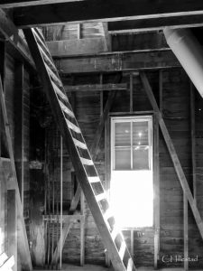 Ladder leading to hayloft